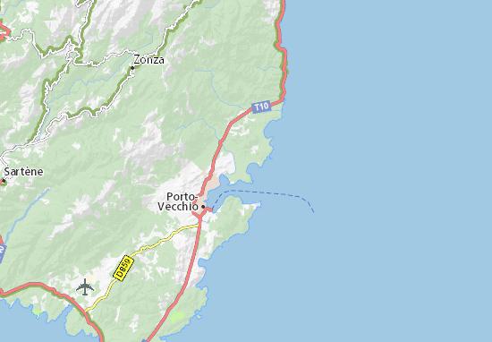 Carte détaillée San Ciprianu - plan San Ciprianu - ViaMichelin