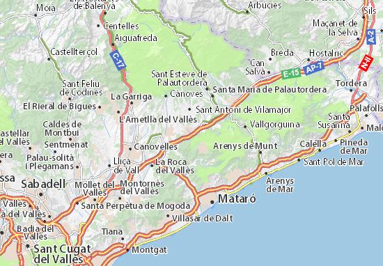 Mapa Plano Llinars del Vallès