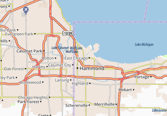 East Chicago Map