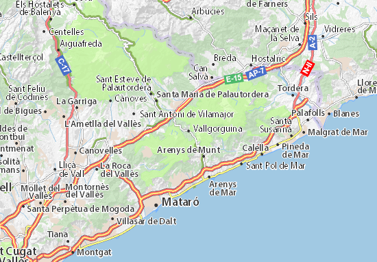 Mapa Plano Vallgorguina