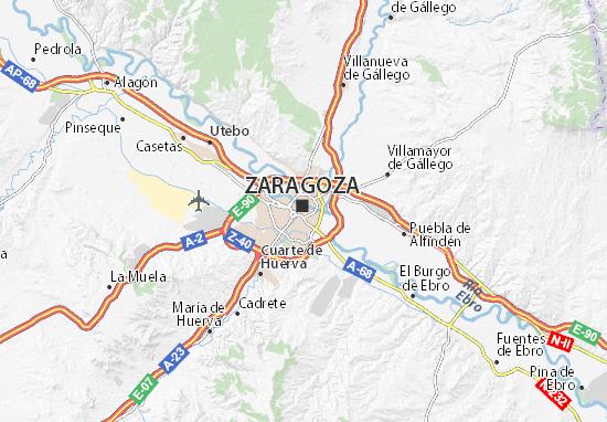 Carte-Plan Zaragoza