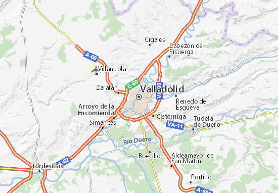 Map Of Valladolid Michelin Valladolid Map ViaMichelin - Map of or