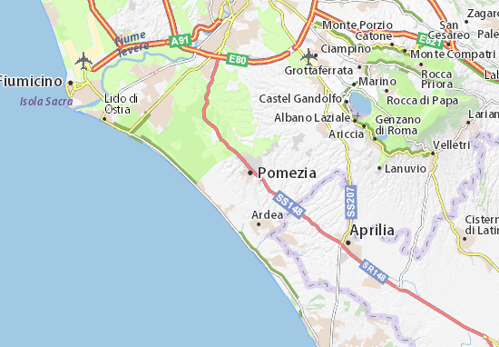 Pomezia Map