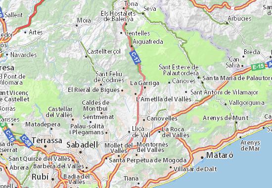 Mapas-Planos L'Ametlla del Vallès