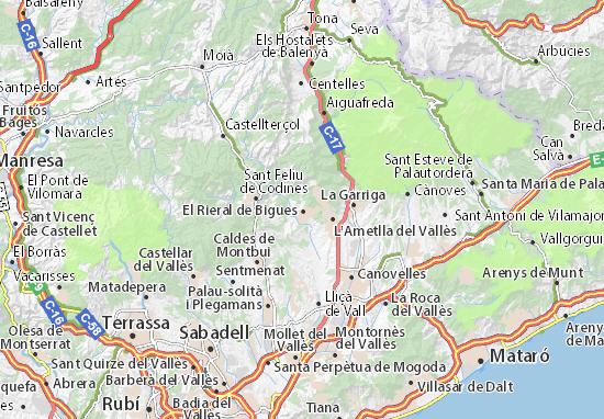 Bigues Map
