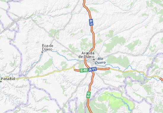 Aranda Del Duero Mapa.Mapa Villalba De Duero Plano Villalba De Duero Viamichelin