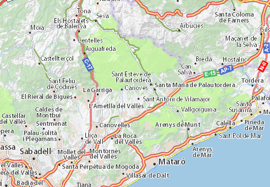 Carte-Plan Sant Pere de Vilamajor