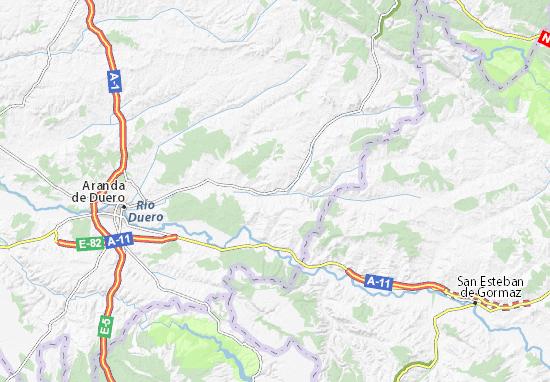 Peñaranda De Duero Mapa.Mapa Penaranda De Duero Plano Penaranda De Duero Viamichelin