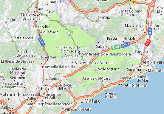 Kaart Plattegrond Santa Maria de Palautordera