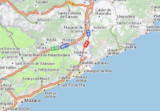 Mapa Plano Tordera