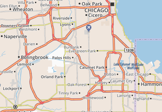 Chicago Ridge Map