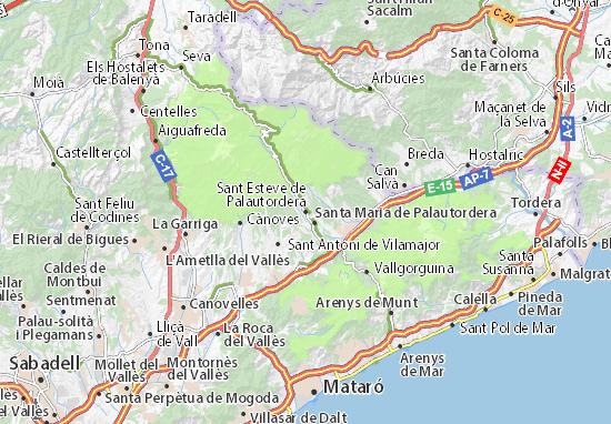 Sant Esteve de Palautordera Map