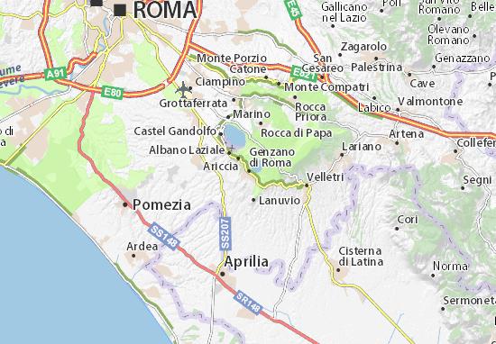 Cartina It.Mappa Michelin Genzano Di Roma Pinatina Di Genzano Di Roma Viamichelin