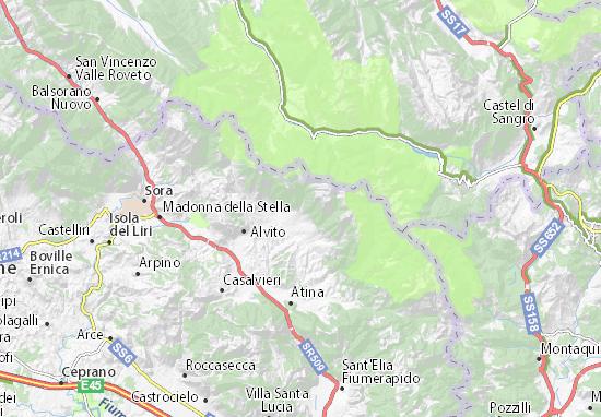 Mapas-Planos San Donato Val di Comino
