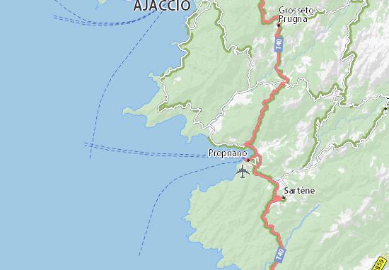 Carte Corse Porto Ota.Carte Detaillee Porto Pollo Plan Porto Pollo Viamichelin