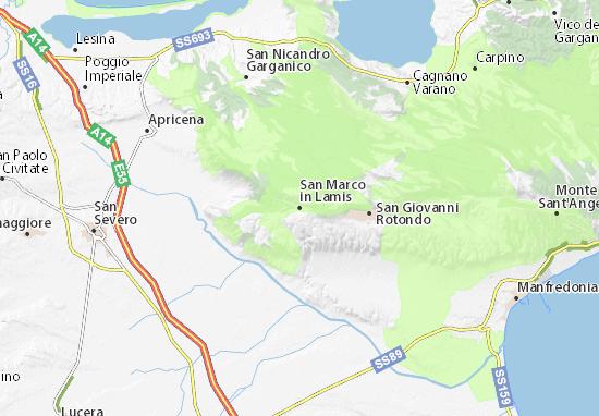 Carte-Plan San Marco in Lamis