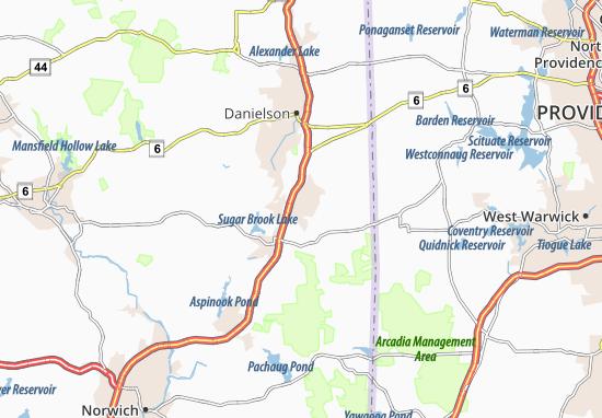 Moosup Map