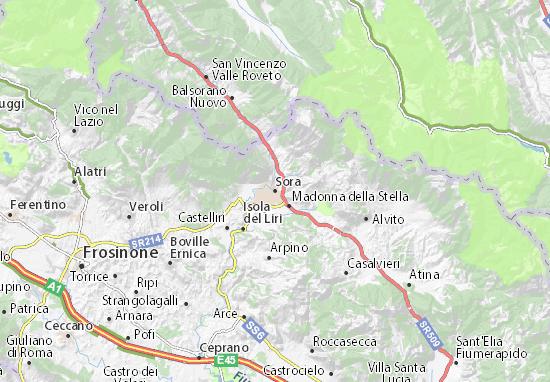 Mappa Sora Cartina Sora ViaMichelin