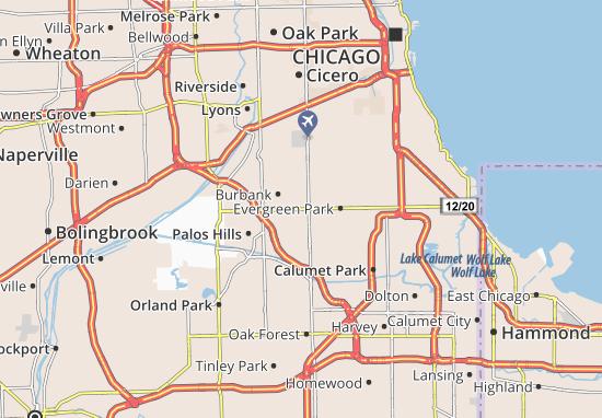 Oak Lawn Map