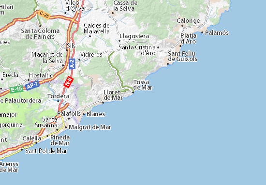Tossa de Mar Map: Detailed maps for the city of Tossa de Mar ...