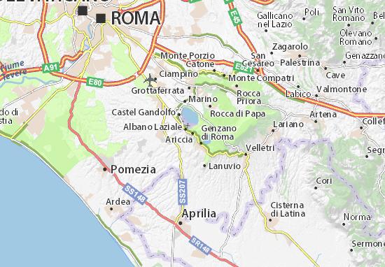 Karte Stadtplan Ariccia