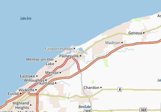 Mapas-Planos Painesville