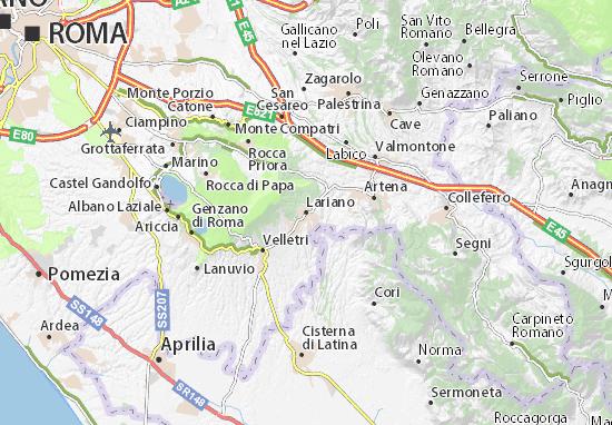Karte Stadtplan Lariano