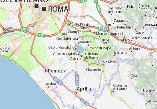 Albano Laziale Map