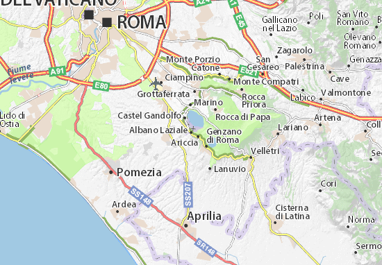 Mapas-Planos Albano Laziale