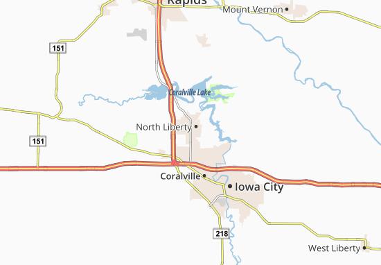 North Liberty Map