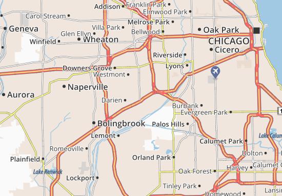 Kaart Plattegrond Willowbrook