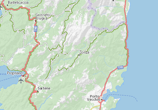 Zonza Map