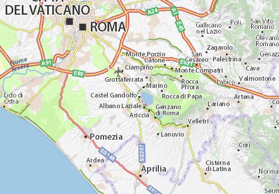 Carte-Plan Castel Gandolfo