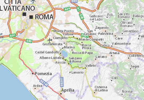 Karte Stadtplan Rocca di Papa