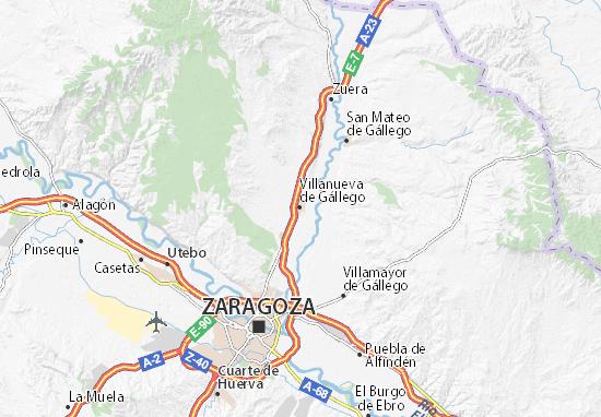 Mapas-Planos Villanueva de Gállego
