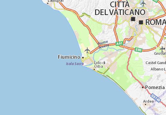 Karte Stadtplan Fiumicino