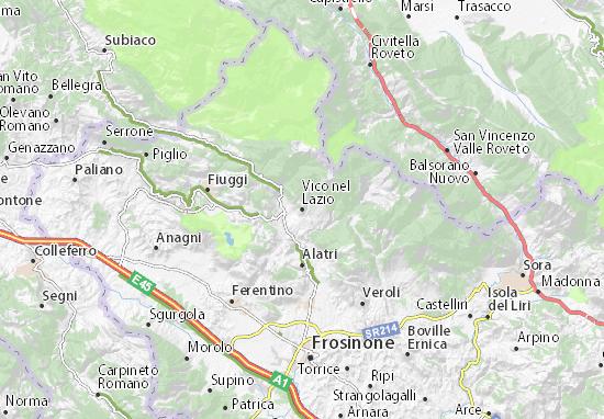 Cartina Lazio Michelin.Mappa Vico Nel Lazio Cartina Vico Nel Lazio Viamichelin