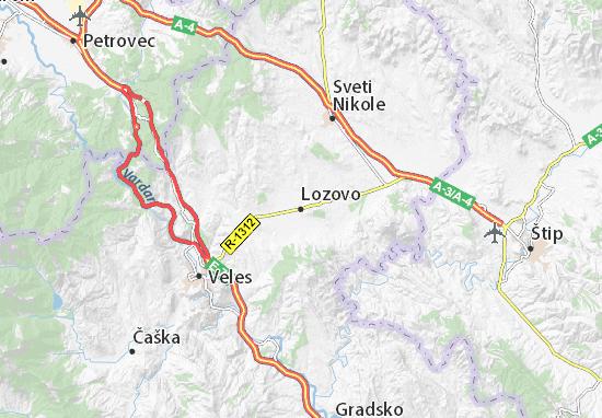 Karte Stadtplan Lozovo