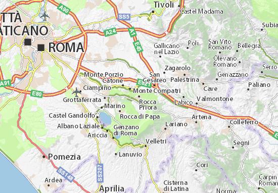 Karte Stadtplan Rocca Priora
