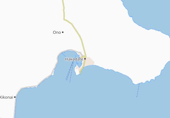 Mapa Plano Hakodate