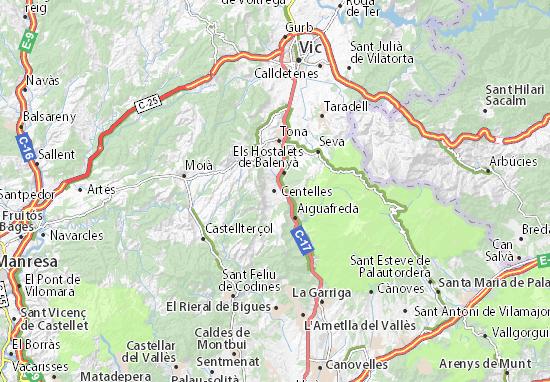 Centelles Map