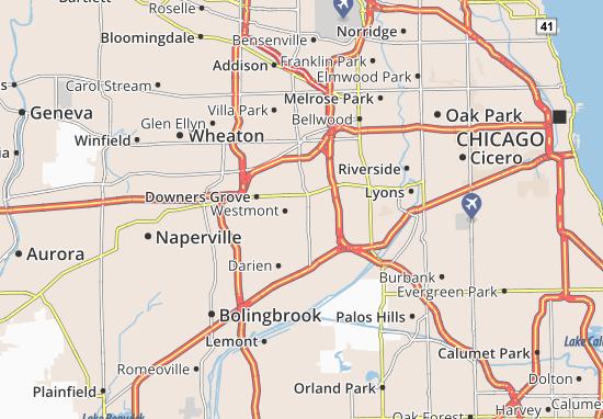 Clarendon Hills Map