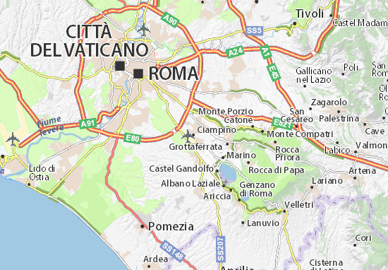 Carte-Plan Ciampino