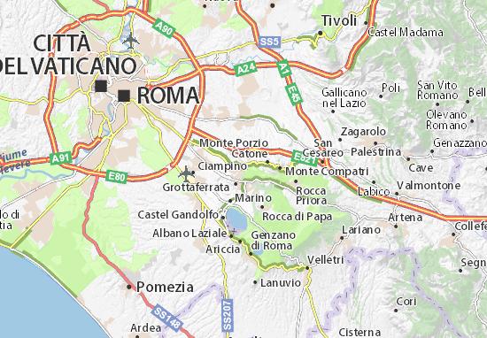 Karte Stadtplan Frascati
