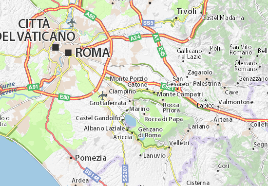 Kaart Plattegrond Frascati