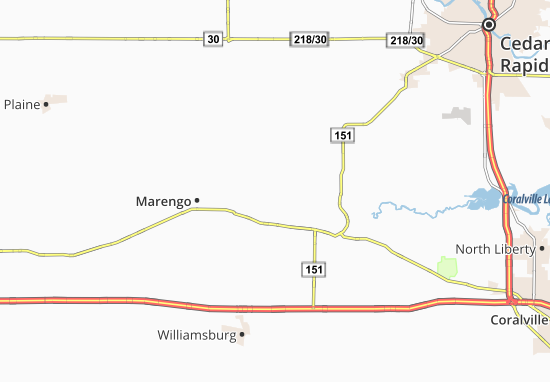 West Amana Map