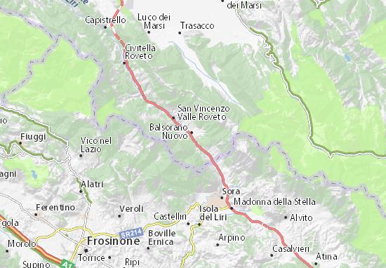Balsorano Nuovo Map