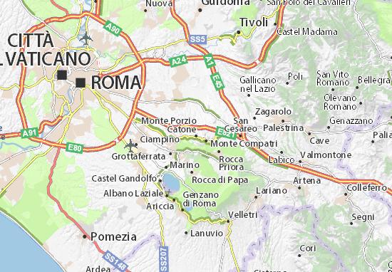 Carte-Plan Monte Porzio Catone