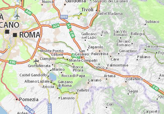 San Cesareo Map