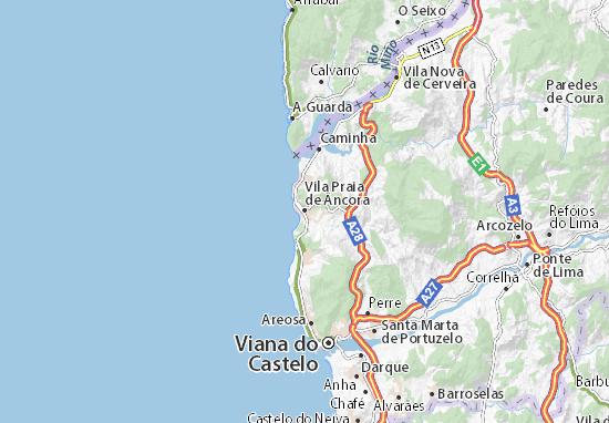 Mapas-Planos Vila Praia de Âncora